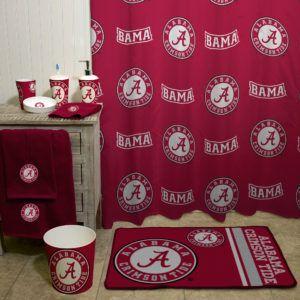 University Of Alabama Shower Curtain Alabama Decor Alabama Room