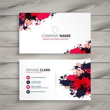 Abstract Grunge Ink Splash Business Card Template Vector Design Illustration Business Card Set Business Card Design Cards