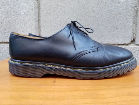Vintage Dr Martens 1461 Black Greasy Men Size 11UK  12USA Made in England   fashion 58ae8674674f