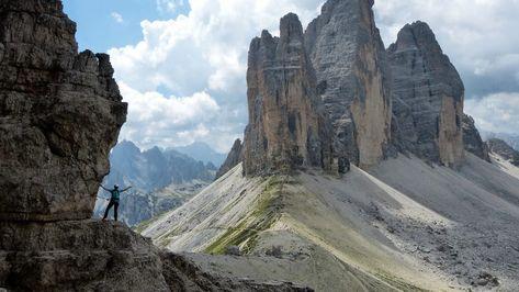 Klettersteig Drei Zinnen : Ausblick auf die drei zinnen klettersteig einfach