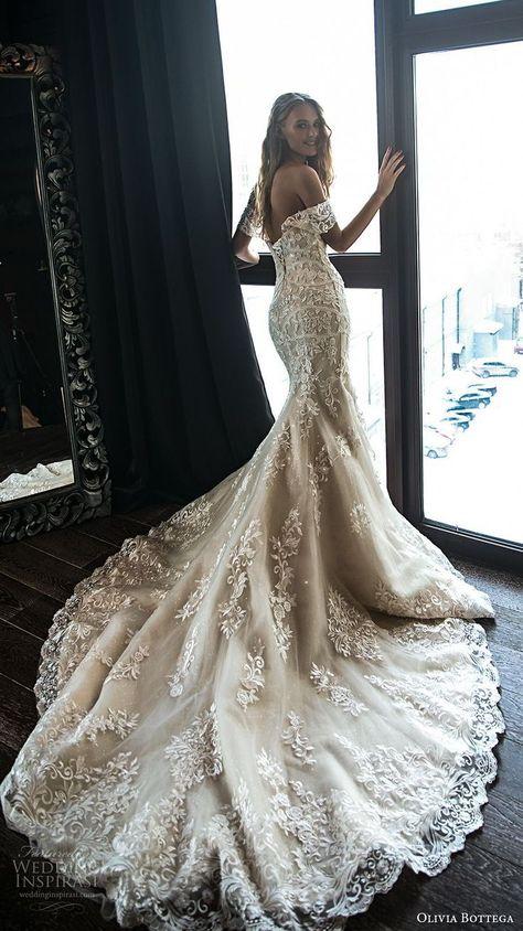 olivia bottega 2018 bridal off the shoulder sweetheart neckline full embellishment elegant sexy mermaid wedding dress chapel train (6) bv -- Olivia Bottega 2018 Wedding Dresses