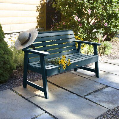 Darby Home Co Trigg Synthetic Wood Garden Bench Size 35 H X 64
