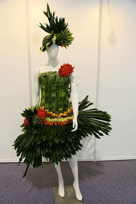Love a floral display on a mannequin!