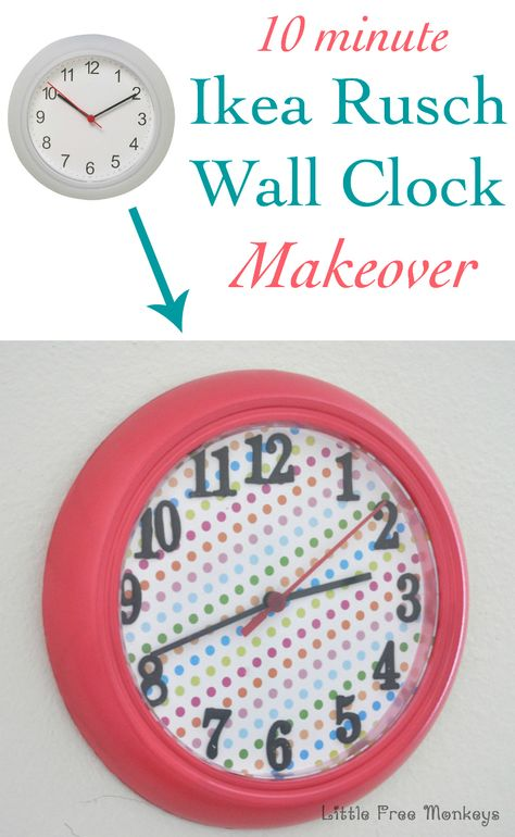 Easy Ikea Rusch Wall Clock Makeover For Kids Room Clock Ikea Clock Ikea