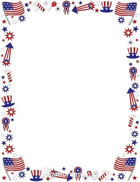 fourth of july border  pageborders  4th of july