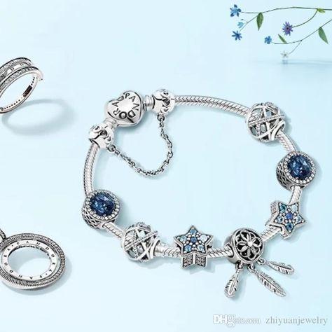 62250b21e9de Christmas Gifts Pandora Classic Dream Star Night Charm Bracelets Sterling  Silver 925 Jewelry Full Package Gifts Bangle Bracelets Bracelet Charms From  ...