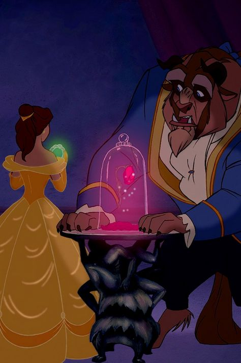 Beast Let S Go And Belle Was So Happy And Beast Gave The Mirror To