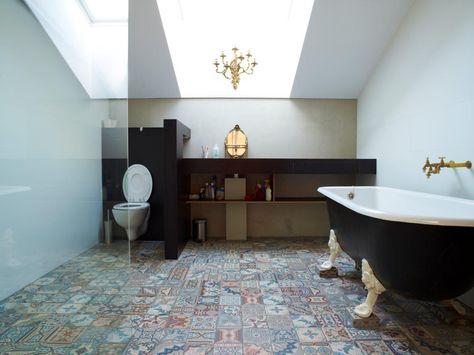 Gele Vloertegels Badkamer : Patchwork antieke keramische vloertegels collectie floorz