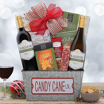 Merry Christmas Wine Basket Christmas Wine Wine Baskets Christmas Gift Baskets
