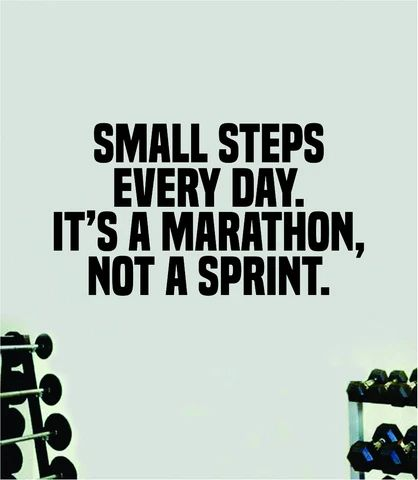Small Steps Every Day Marathon Quote Wall Decal Sticker Vinyl Art Home – boop decals