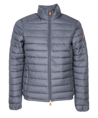 SAVE THE DUCK SAVE THE DUCK MEN'S GREY POLYAMIDE DOWN JACKET