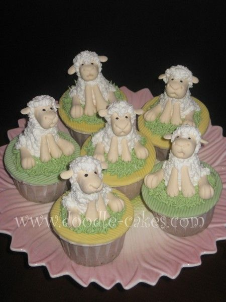 Cutest Cupcake, EVER! - Sheep made using Aine2 tutorial on Youtube. These guys are so cute! Lemon whip chocolate cake with raspberry swiss buttercream filling.