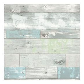 Nuwallpaper Beachwood Peel Stick Wallpaper Aqua Nuwallpaper How To Distress Wood Vinyl Wallpaper