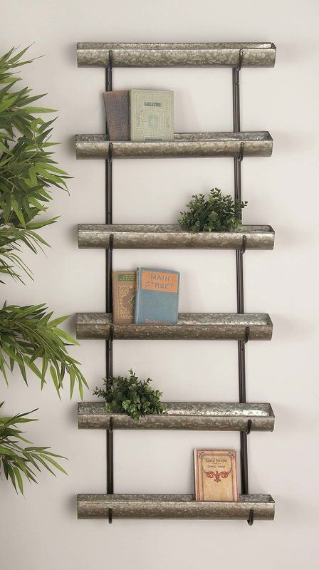 Osterley Iron 6 Tiered Wall Planter Metal Wall Planters Wall Planter Tiered Planter