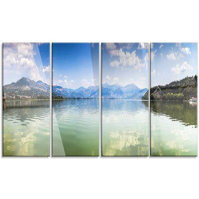 Design Art 'Kastoria Lake Greece Panorama' 4 Piece Photographic Print on Metal Set