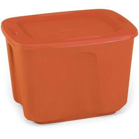 Mainstays 18g Tote Orange E, Orange Storage Totes With Lids