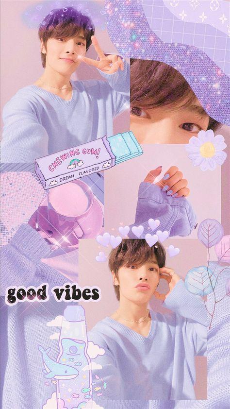 skz Jeongin Wallpaper Aesthetic Purple