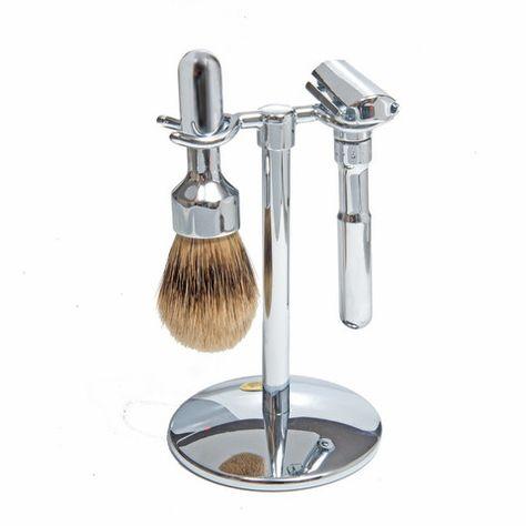 Merkur Futur 3pc Shaving Set Chrome Plated Merkur Futur Adjustable Double Edge Safety Razor Silver Tip Badger Shaving Shaving Set Best Beard Balm Beard Balm