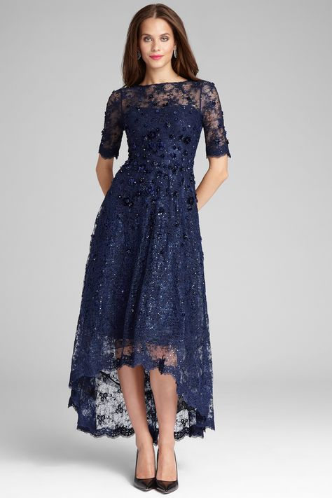 06687ed5978 R   M Richards High-Low Sequin-Embellished Gown   Reviews - Dresses ...