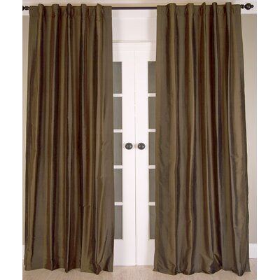 India S Heritage Renne Solid Sheer Rod Pocket Single Curtain Panel