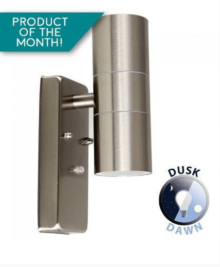 Neosteel Stainless Steel Dusk Till Dawn Up Down Wall Light Gu10