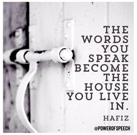 >>> speak holiness