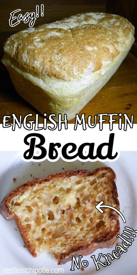 English Muffin Bread, Homemade English Muffins, Bread Machine Recipes, Bread Recipes With Yeast, Bread And Pastries, Love Food, Baking Recipes, Breakfast Recipes, The Best
