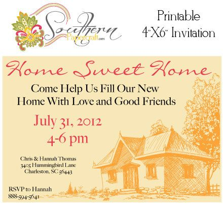 Printable Customized House Warming Party Invitations As