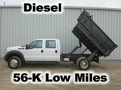 Ad Ebay Link F550 Diesel 4 Door Crew Cab 9 Ft Dump Bed Body Contractor Haul Truck 56 K Mi In 2020 Ford Super Duty Vehicle Shipping Dump Trucks