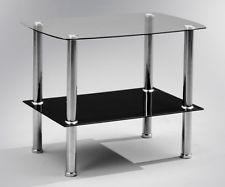 Beistelltisch Zoom Klarglas Schwarz Couchtisch Loungetisch Tisch