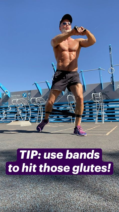 TIP: use bands to hit those glutes!