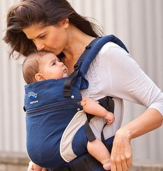 Hug A Bub Organic Pocket Wrap Carrier Byron Blue Hug A Bub