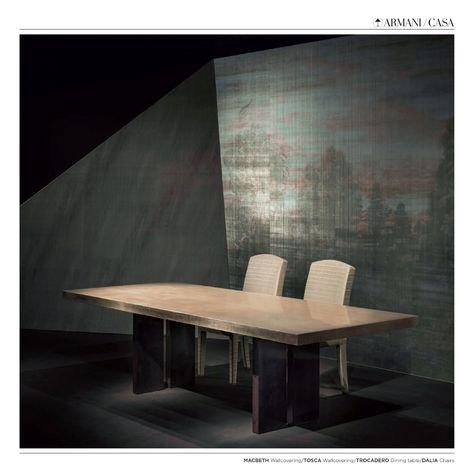 Some Products Of Armani Casa Dinning Table Trocadero Chairs Dalia Wallcovering Macbeth Wallcovering Tosca Armanicasa Arman Table Furniture Dinning Table