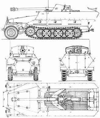 Image result for Howitzer M109 Blueprints | MUZZLE BRAKES