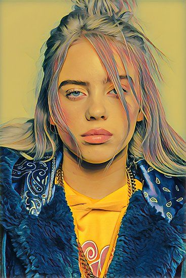 Billie Eilish Painting Photographic Prints By Quichodesigns