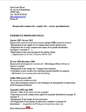 Aide Modele Cv Aide Menagere Experience Professionnelle