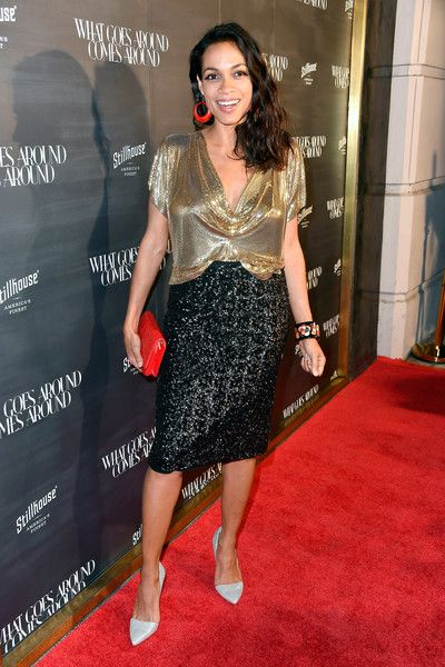 Rosario Dawson attends the 'What Goes Around Comes Around' anniversary.