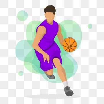 Purple Purple Clothes Basketball Posture Basketball Play Basketball Cartoon Cartoon Athlete Png And Vector With Transparent Background For Free Download
