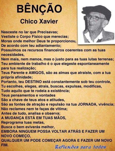 Acesse esta mensagem, com imagem de Chico Xavier e frase. #ChicoXavier