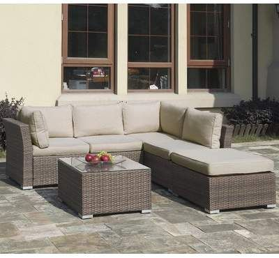 Jb Patio 4 Piece Rattan Sectional Seating Group With Cushions Jb