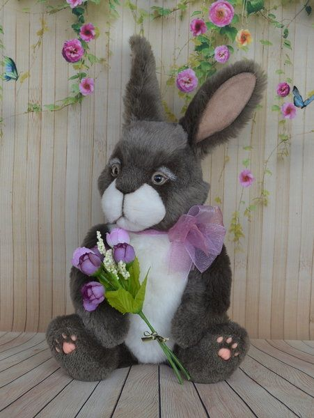 Oliver By Petelina Natalia Rabbit Sheep Wool Bunny