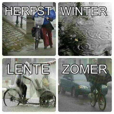 Seizoenen in Nederland ( Seasons from Holland :) and btw this is the truth in the pictures, we have rain, rain, rain and even more rain. Sunshine is a rarity!)