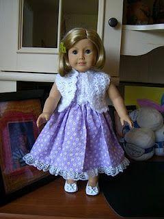 Free crochet shrug pattern for an American Girl Doll
