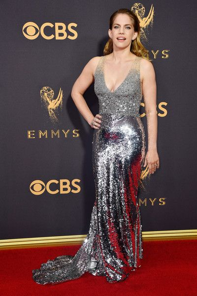 Actor Anna Chlumsky attends the 69th Annual Primetime Emmy Awards.