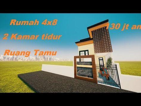 desain rumah 2 lantai ukuran 4x9