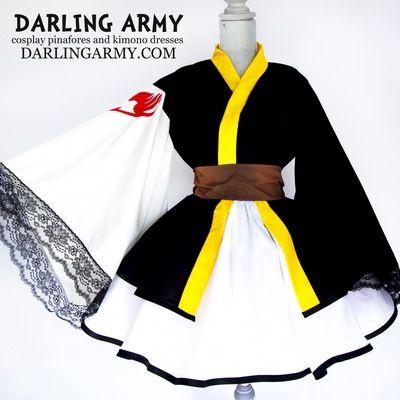 Hot! Fairy Tail Female Lolita Cosplay Kimono Dress custom made*111