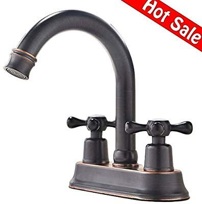 Modern Oil Rubbed Bronze 2 Handle Centerset Stainless Steel