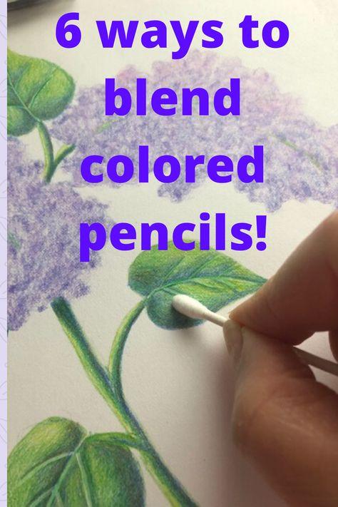Discusses 6 different colored pencil blending techniques Pencil Shading Techniques, Watercolor Pencils Techniques, Watercolor Pencil Art, Pencil Drawing Tutorials, Pencil Painting, Pencil Art Drawings, Drawing Techniques, Horse Drawings, Drawing Art