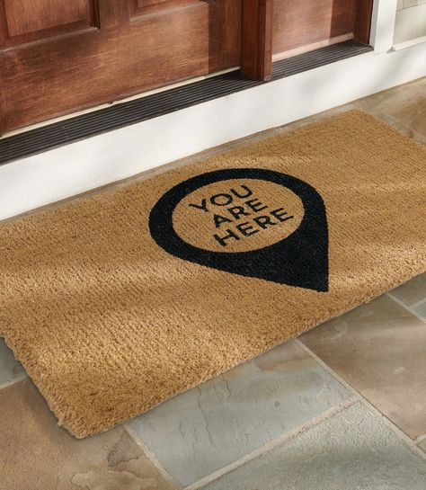 Our whimsical You Are Here Coir Door Mat is handmade from 100% coir, an all-natural material known for its resistance to the elements. Acrylic dyes saturate the fibers and resist fading over time.