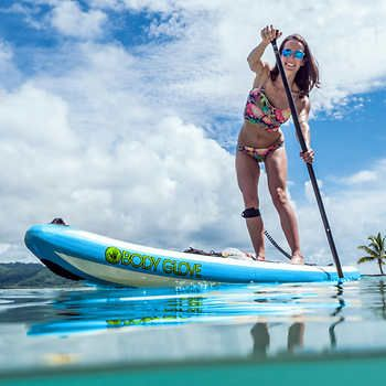 d1f55043f Body Glove Performer 11  Inflatable Stand Up Paddle Board Package Triple  Layer Stringer Construction Dual Action High Pressure Pump and Gauge  Backpack